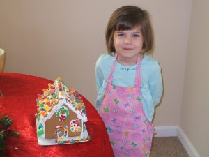 KG and Gingerbread house